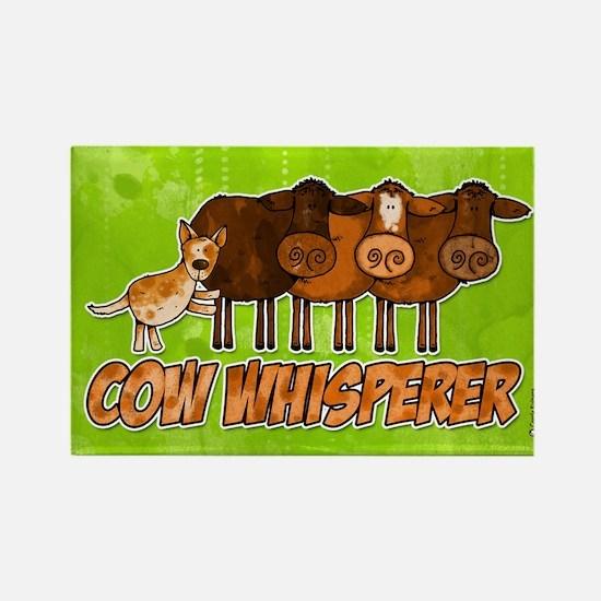 cow whisperer red heeler Rectangle Magnet