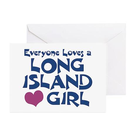 Long Island Girl Greeting Cards (Pk of 10)
