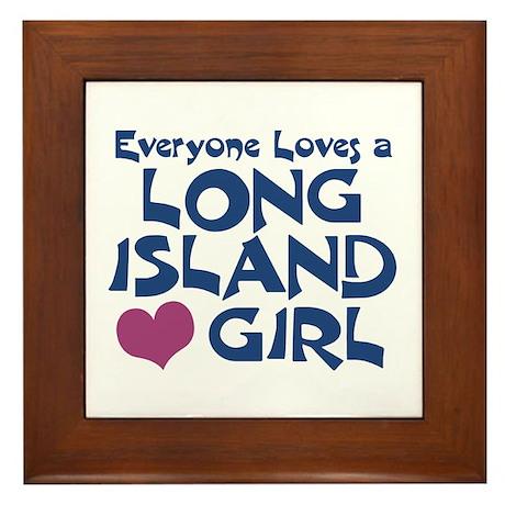 Long Island Girl Framed Tile