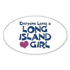 Long Island Girl Oval Decal