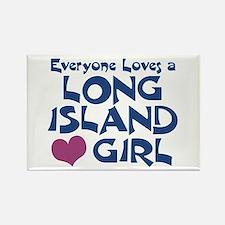Long Island Girl Rectangle Magnet