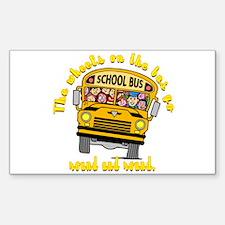 School Bus Kids Rectangle Sticker 10 pk)