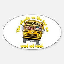 School Bus Kids Oval Decal