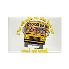 School Bus Kids Rectangle Magnet
