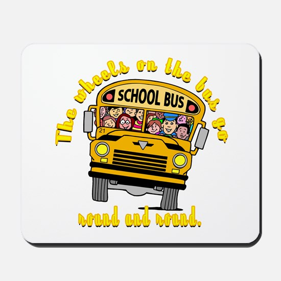 School Bus Kids Mousepad