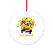 School Bus Kids Ornament (Round)