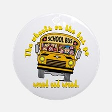 School Bus Kids Ornament (Round)