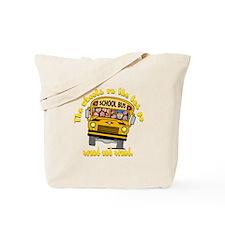 School Bus Kids Tote Bag
