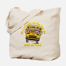 School Bus Kids Tote Bag