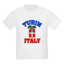 Turin Italy Workout and Play Gear Kids T-Shirt