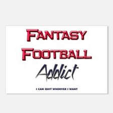 Fantasy Football Addict Postcards (Package of 8)