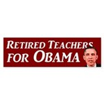 Retired Teachers for Obama 2012 bumpersticker