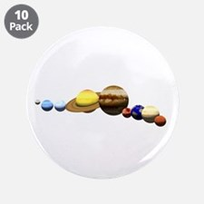 "Solar System 3.5"" Button (10 pack)"