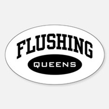 Flushing Queens Oval Decal