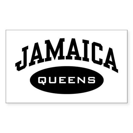 Jamaica Queens Rectangle Sticker