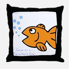 Gold Fish Throw Pillow