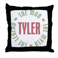 Tyler Man Myth Legend Throw Pillow