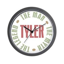 Tyler Man Myth Legend Wall Clock