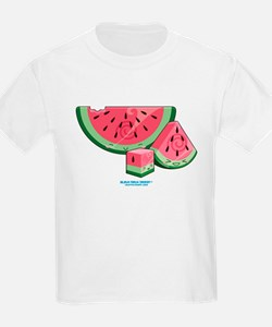 Kawaii Watermelon Trio T-Shirt