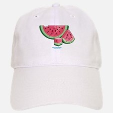 Kawaii Watermelon Trio Baseball Baseball Cap