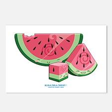 Kawaii Watermelon Trio Postcards (Package of 8)