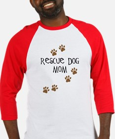 Rescue Dog Mom Baseball Jersey
