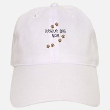 Rescue Dog Mom Baseball Baseball Cap