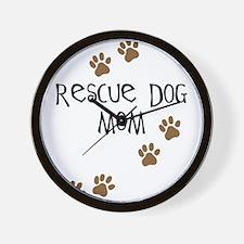 Rescue Dog Mom Wall Clock