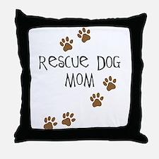 Rescue Dog Mom Throw Pillow