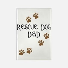 Rescue Dog Dad Rectangle Magnet