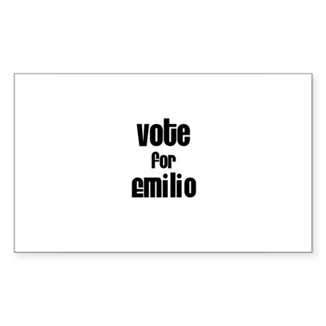 Vote for Emilio Rectangle Sticker