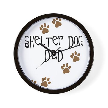 Shelter Dog Dad Wall Clock