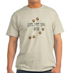 Shelter Dog Mom Light T-Shirt