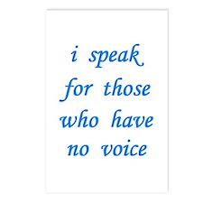 i speak... Postcards (Package of 8)