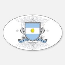 Argentina Shield Oval Decal
