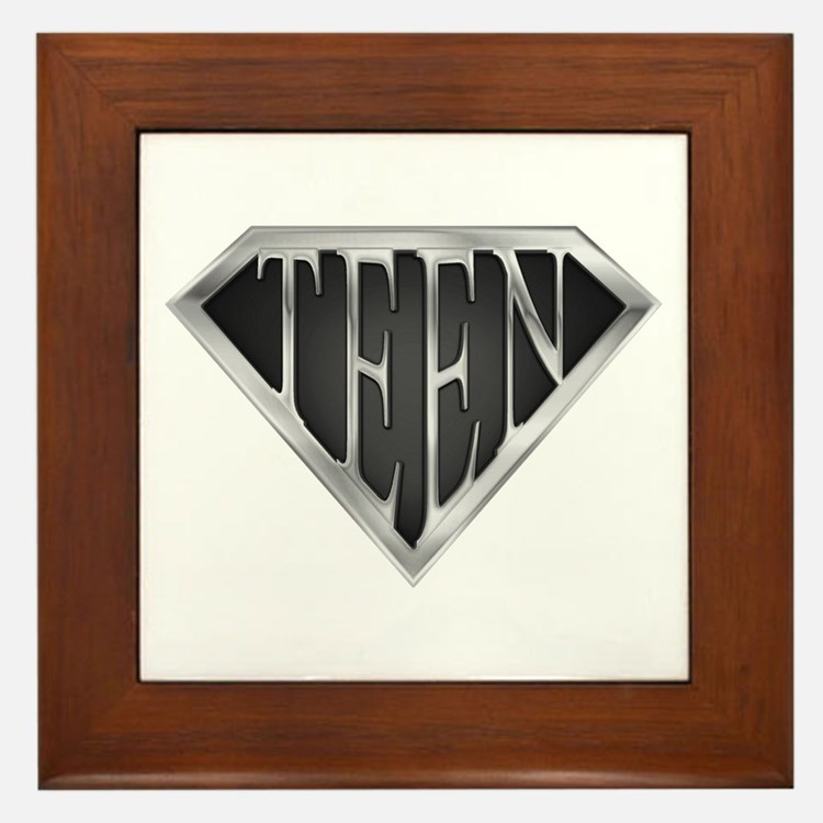 SuperTeen(metal) Framed Tile
