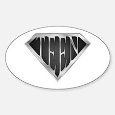 SuperTeen(metal) Oval Decal