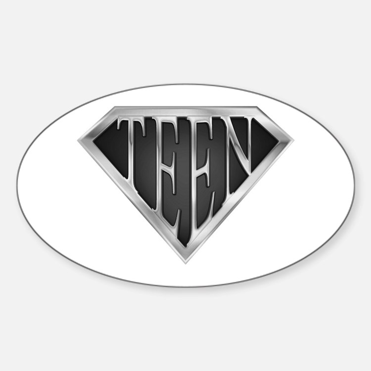 SuperTeen(metal) Oval Decal