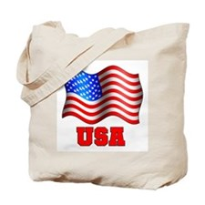USA Patriotic American Flag Tote Bag