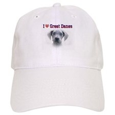 I Love Great Danes Baseball Cap