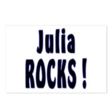 Julia Rocks ! Postcards (Package of 8)