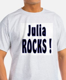 Julia Rocks ! Ash Grey T-Shirt