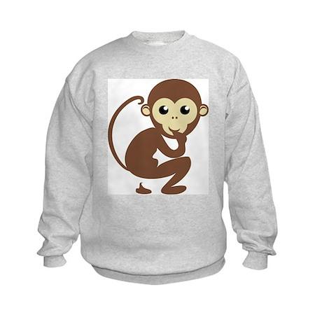 Poo Monkey Kids Sweatshirt