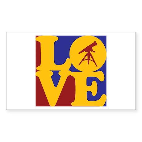 Astronomy Love Rectangle Sticker