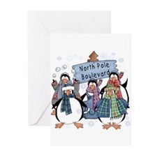 North Pole Penguins Greeting Cards (Pk of 20)