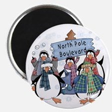 "North Pole Penguins 2.25"" Magnet (10 pack)"