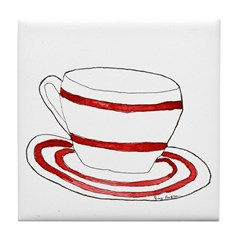 Cup and Saucer Tile Coaster