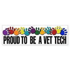 Proud To Be A Vet Tech Bumper Bumper Sticker