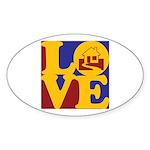 Appraisals Love Oval Sticker (10 pk)