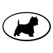 West Highland Terrier Oval Oval Bumper Stickers